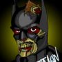 zombie batman by LittleNerdyGem