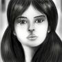 green eyes - Drawing by Omar by OmarMadaeinArt