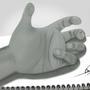 my 3D Hand - by OmarMadaeinArt