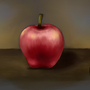 Apple - painting exercise by sonofcaine