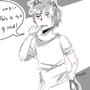 Sleepy And Hungry Ookami Boy