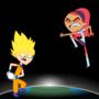 Goku vs Trina by Flashlight237