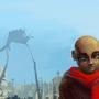 Red scarf by Cenaf