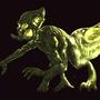 Glowing spider demon