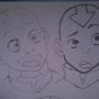 Manga - Avatar Aang head by jellewietsma
