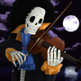 The Skeleton Musician Brook by CrazyCreators