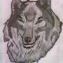 Wolf drawing by TessaWuff