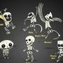 Famous Cartoon Skeletons by Creativeimonkey