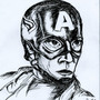 Captain America Pen and Ink by ImmaDrawOnYourFace