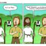 Thor & Jesus - 1st meeting by gladius2metal