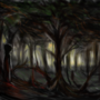 figures in the woods by TrojanMan87