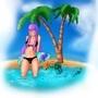 summer beach by antuel