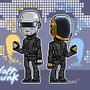 Daft Punk - pixel art by ionrayner