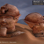 3D Game Model: Egyptian Statue