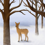 Doe in the Snow by jaredthegraphicnoob