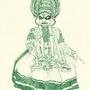 Saturday art #6 - Kathakali by Oye-LKY