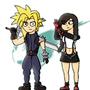 FF VII - Cloud and Tifa
