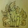 Ninetales in Tribal by FudgeMellow