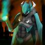 Blaze Battle Armor by bologen111