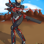 Cyborg Samurai by QuietStealth