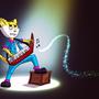 Take It Away Keytar Cat by fxscreamer