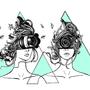 All seeing digital eye sisters by serenekitchen