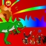 Dinosaur monkey explosion
