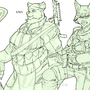 Soldier girls linework by HOLIMOUNT2