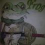 The Most Badass Frog by artistunknown