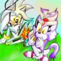 Silver and Blaze by 89animegirl