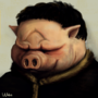 Painting of a pig by GuyUngerNL