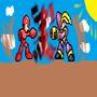 Megaman VS Bass by mjflaherty468