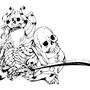 Skull Samurai Hard Ink by SilentMonkeyStudios