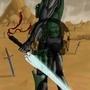 Cyborg Ninja Commission by NullBoss