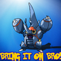 Mega Bro Heracross by Crossburn
