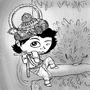 Daily Draw #22 - Krishna by Oye-LKY