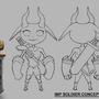 Imp soldier concept by Taburah