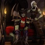 A Dark Shaman and her Hound by Katiethemoo