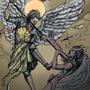 Saint Michael by Lowgan