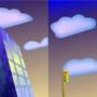3D Spring Time Building
