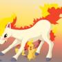 Pikachu - Ponyta by SiberianCrystAlx