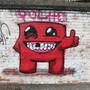 Super Meat Boy Street Art by polhudo