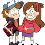 Dipper and Mabel fanart by Shadowblackfox