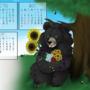 Summer Bear - Animal Calendar by ithoughtiwascrazy