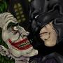 Batman And the joker by LuffieXxx