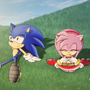 Sonic and Amy by Mckodem