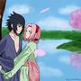 Sakura and Sasuke by Firecloak