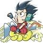 Goku and BMO by Oponok