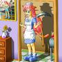 Cat-Girl Cali II: Unhappy Maid by Clovis15