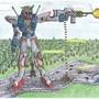 Hunter Gundam (In Action! XD) by Sanchez150894